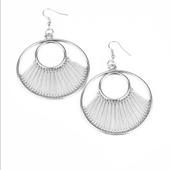 Really High Strung Silver Earrings